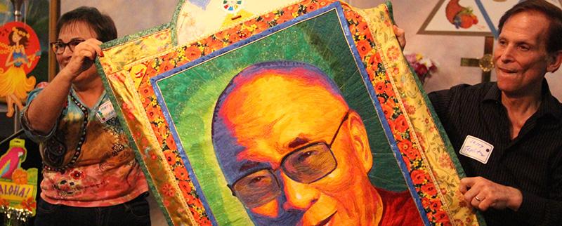 Meryl Ann Butler Dali Lama quilt